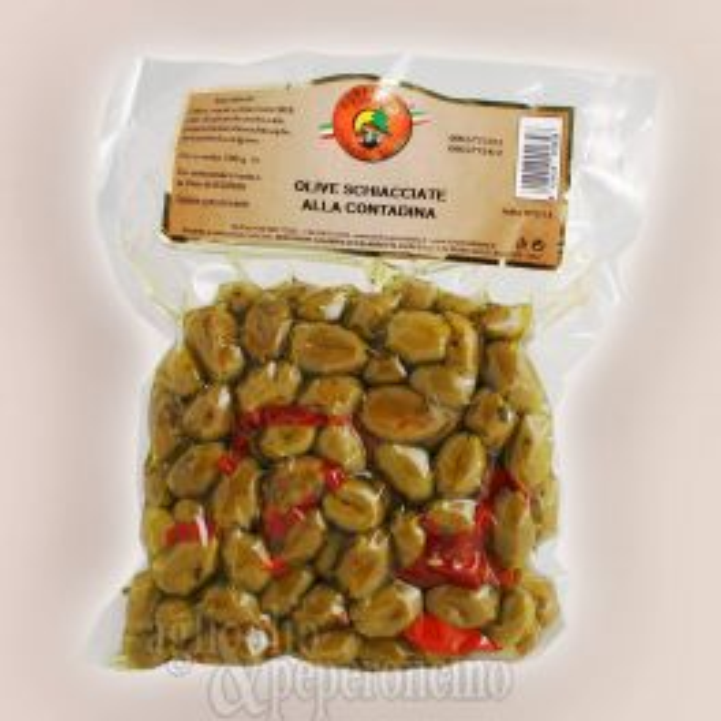 Olive schiacciate alla contadina sotto vuoto
