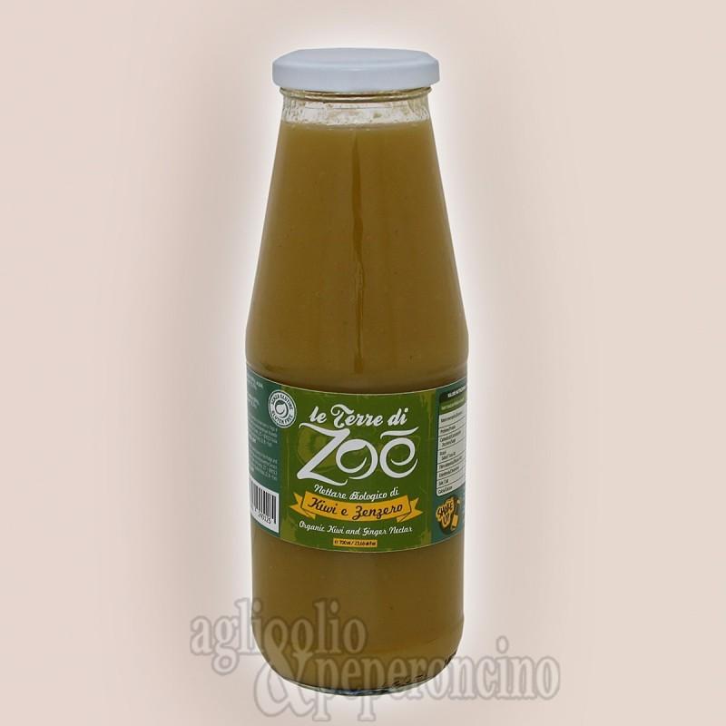 Nettare biologico di kiwi e zenzero - In bottiglia da 70 cl - Le Terre di Zoè