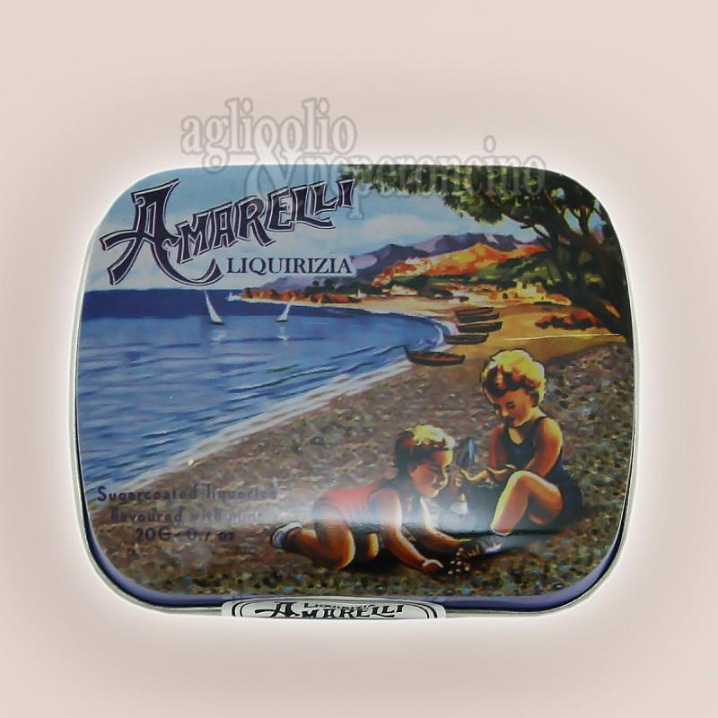 Bianconeri Amarelli Beach - Confetti di liquirizia calabrese alla menta in lattina da 40g