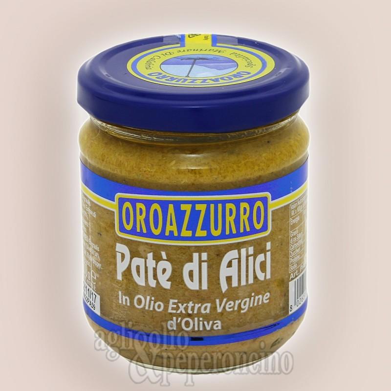 Patè di alici Oroazzurro con olio extravergine - Specialità ittica calabrese in vasetto da 200 gr.