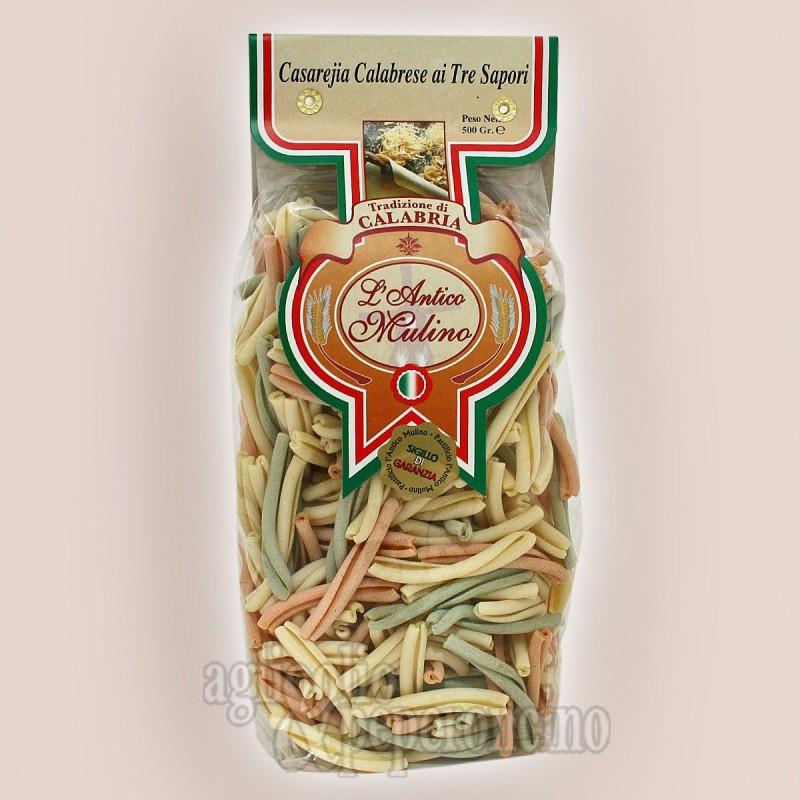 Casareja ai tre sapori 500 gr - Pasta artigianale calabrese