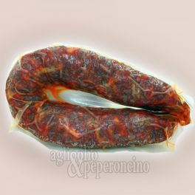 Salsiccia girella dolce rossa - Con peperoncino rosso non piccante