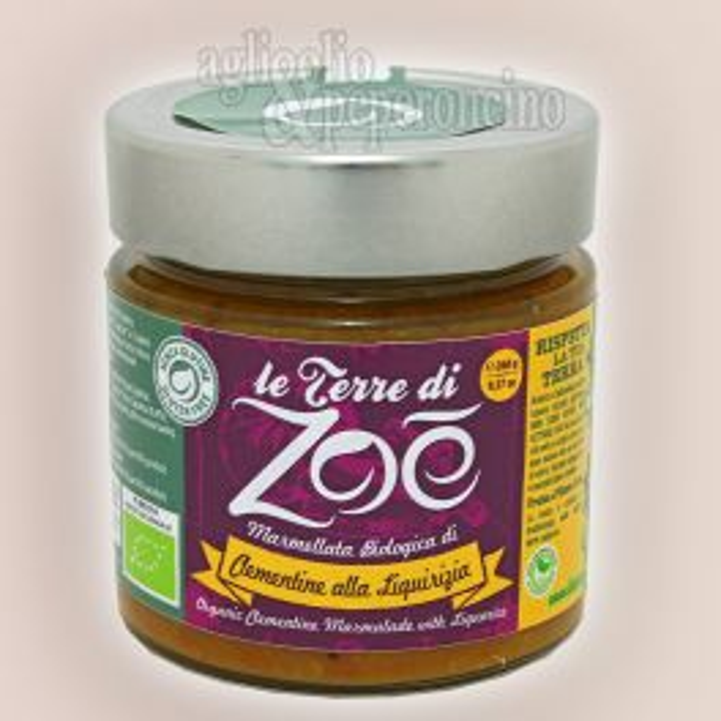 Marmellata di clementine e liquirizia - Biologica - Gluten free - Terre di Zoé