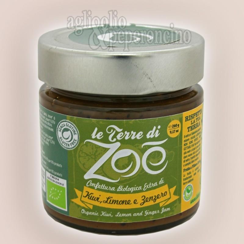 Marmellata di kiwi limone e zenzero Bio Frutta calabrese biologica