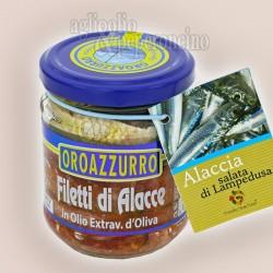 Filetti di Alacce di Lampedusa in olio Evo