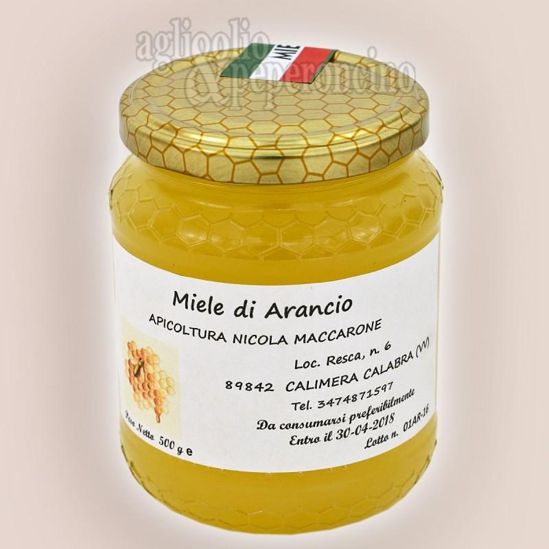 Miele di arancio in vasetto da 500 grammi - Da apicultura calabrese