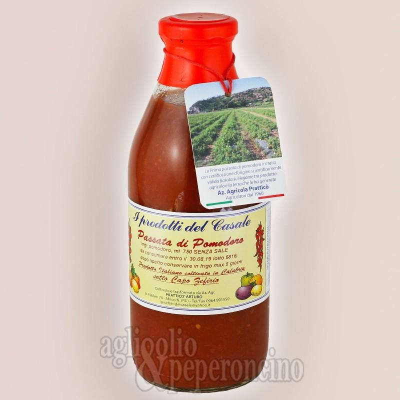Passata di pomodoro calabrese 750 ml - I prodotti del Casale