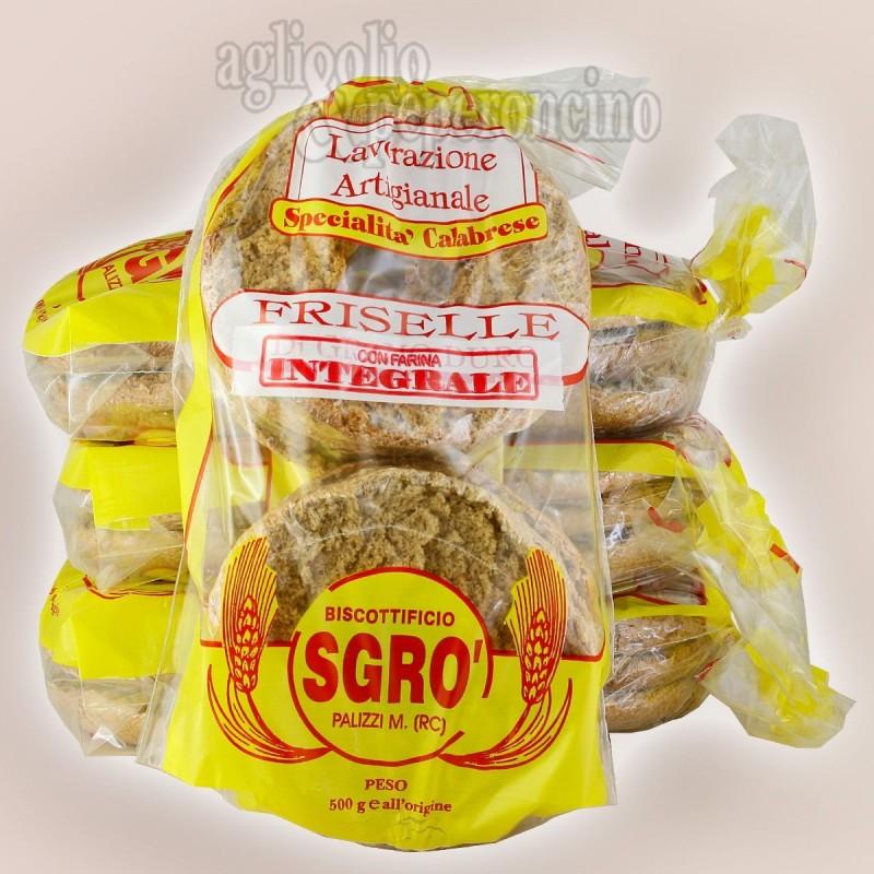 Friselle integrali calabresi - Con semola di grano duro
