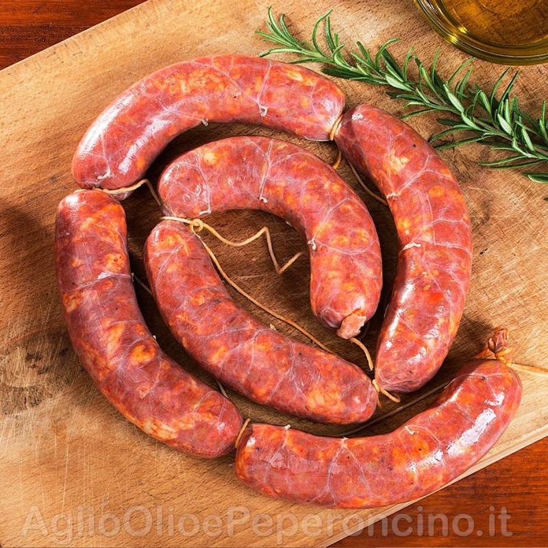 Salsiccia Fresca Dolce - Ricetta tradizionale calabrese al pepe nero e spezie