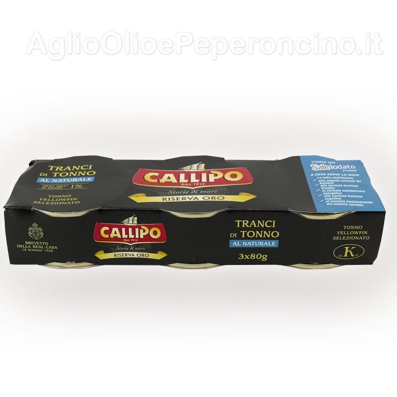 Tranci di tonno al naturale 80x3 - Riserva oro Callipo